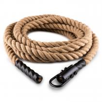 Capital Sports Power Rope avec crochets 9m 3,8cm corde chanvre