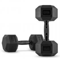 Hexbell Black Dumbbell Kurzhantel Paar 2 x 15 kg