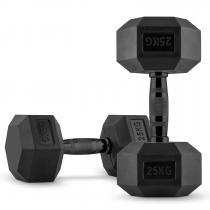 Hexbell Black Dumbbell Kurzhantel Paar 2 x 25 kg
