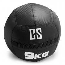 Bravor Wall Ball Medizinball PVC doppelte Nähte 9kg schwarz