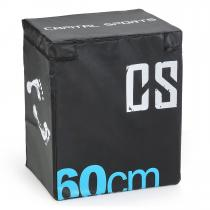 CAPITAL SPORTS Rooksy Soft Jump Box Boîte plyométrique 60x50x30 cm - noir