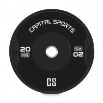Capital Sports Elongate Bumper Plate Disque poids Caoutchouc 2x 20kg