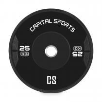 Capital Sports Elongate Bumper Plate Disque poids Caoutchouc 2x 25kg