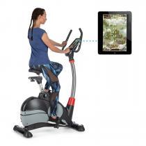 Arcadion Gaming Bike Heimtrainer Ergometer | spielend trainieren mit GamingApps | flexibler Lenker | inkl. regelmäßigen Spiele-App-Updates | Drehgeschwindigkeits-Sensor | Pulsmesser | Bluetooth | USB | Lenkerhalter | bis 120kg | höhenverstellbar |