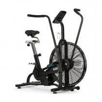 Strike Bike Cardiotrainer Heimtrainer Cardio-Bike | Trainieren mit Ventilationswiderstand | Trainingscomputer | Bluetooth | höhenverstellbarer Sattel | Complete Cardio Workout | Smartphone- und Tablethalter | max. Belastung: 150 kg | schwarz