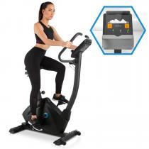 Evo Track Cardiobike Heimtrainer | volle Kinomap-App-Unterstützung mit Bluetooth-Feedback-Training | Schwungmasse: 15 kg | 32-stufiger Magnet-Widerstand | laufruhiger Riemenantrieb | für jeden Trainingsanspruch | Pulsmesser | Trainingscomputer | schwarz
