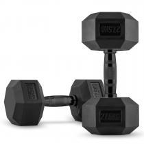 Hexbell Dumbbell | Kurzhantel-Paar | 2 x 27,5 kg | schwarz