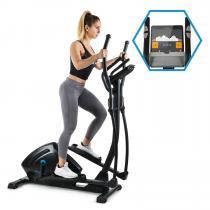 Helix Track Cross Trainer Heimtrainer | Kinomap-App-Unterstützung | Bluetooth | Schwungmasse: 18 kg | MagResist: 32-stufiger Magnet-Widerstand | SilentBelt System | HiLevel | Pulsmesser | Trainingscomputer | schwarz