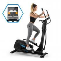 Helix Pro Cross Trainer Heimtrainer | Kinomap-App-Unterstützung mit Bluetooth-Feedback-Training | Schwungmasse: 20 kg | MagResist: 32-stufiger Magnet-Widerstand | SilentBelt System | HiLevel | Pulsmesser | Trainingscomputer | schwarz
