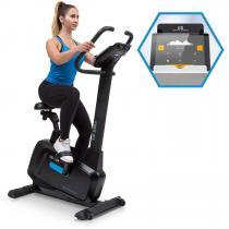 Evo Pro Cardiobike Heimtrainer | Kinomap-App-Unterstützung mit Bluetooth-Feedback-Training | Schwungmasse: 20 kg | MagResist: 32-stufiger Magnet-Widerstand | laufruhiger Riemenantrieb | Pulsmesser | Trainingscomputer | schwarz