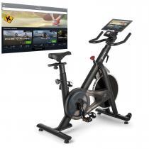 Evo Race Indoor Bike Cardiobike Heimtrainer | Kinomap-App-Unterstützung via Bluetooth-Pulsgurt | Schwungmasse: 22 kg | stufenloser Magnet-Widerstand | laufruhiger Riemenantrieb | inkl. Bluetooth-Pulsband | Pulsmesser | Trainingscomputer | grau