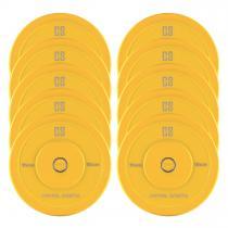 CAPITAL SPORTS Nipton Bumper Plates 5 paires 15 kg jaune caoutchouc dur