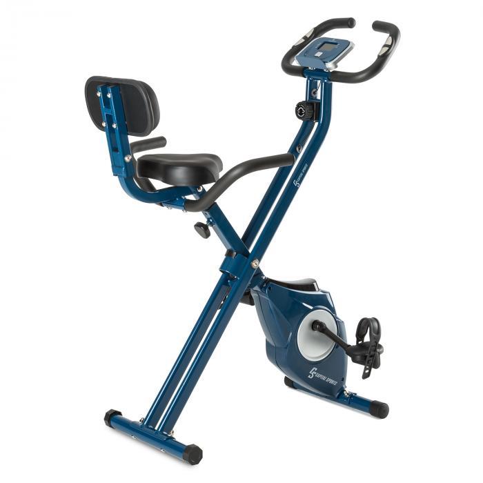 Azura M3 Bicicleta estática hasta 100 kg Pulsómetro plegable 3 kg azul