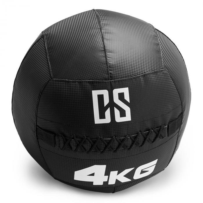 Bravor Wall Ball Medizinball PVC doppelte Nähte 4kg schwarz