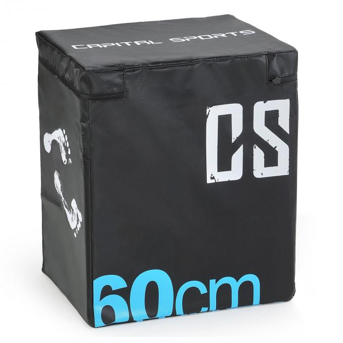 Rooksy Soft Jump Box Plyo Box 60x50x30 cm schwarz