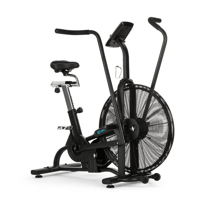 Strike Bike Cardio-Trainer Heimtrainer Cardio-Bike Ventilationswiderstand Trainingscomputer BT schwarz