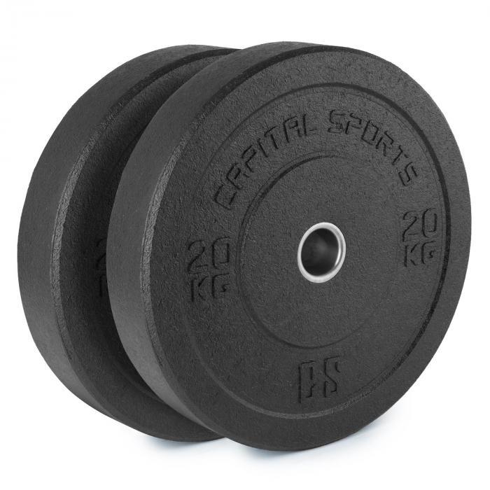 Renit Hi Temp Bumper Plates 50,4 mm Aluminiumkern Gummi 2x 20kg