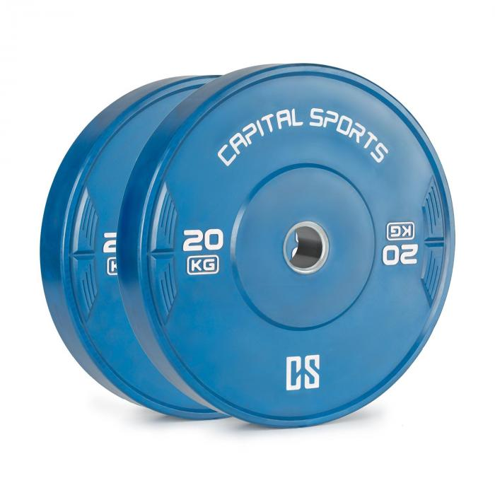 Nipton Bumper Plate Gewichtsplatte   1 x 20 kg   Hartgummi